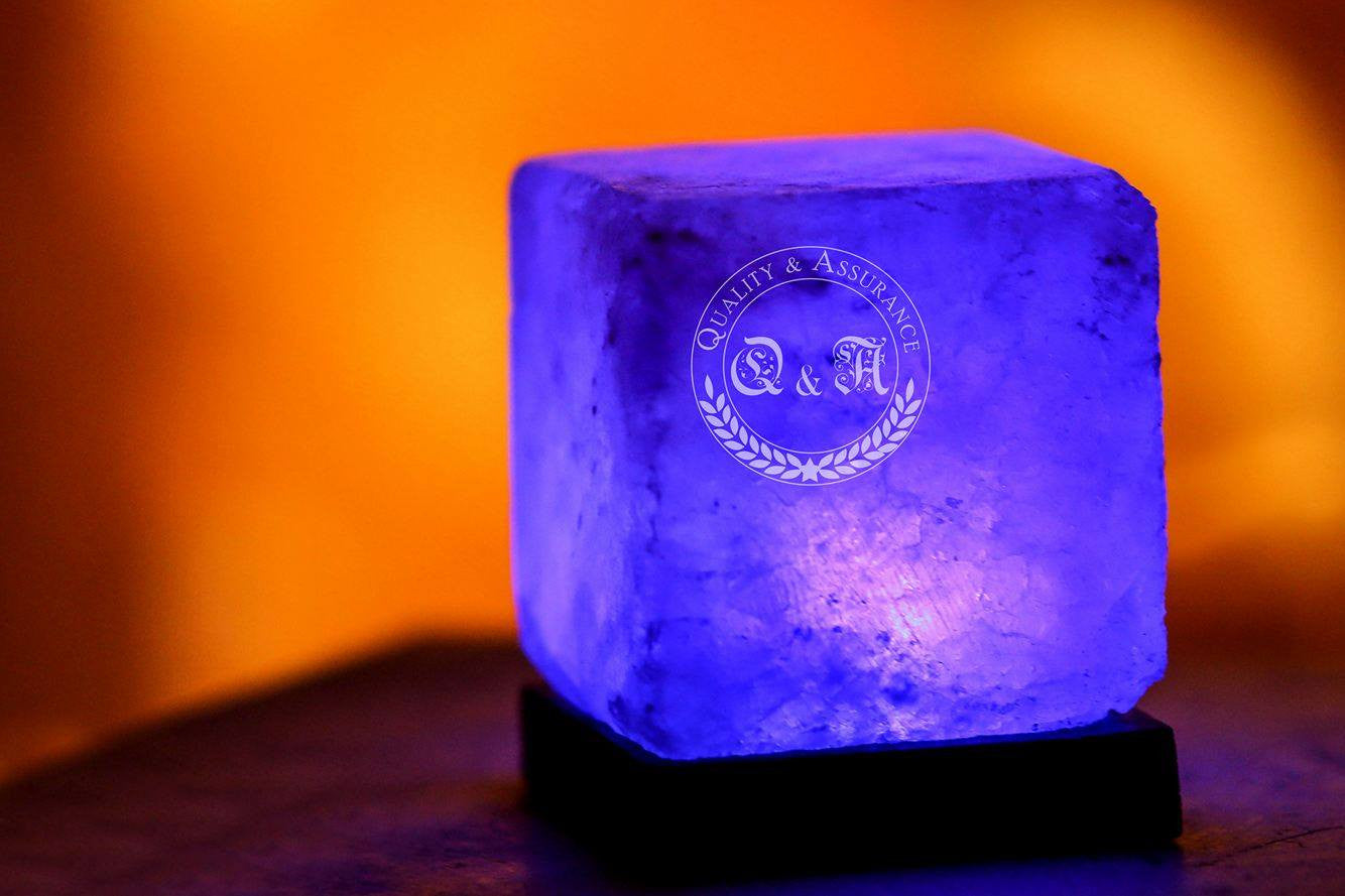 Himalayan Salt Mini Cube USB Lamp