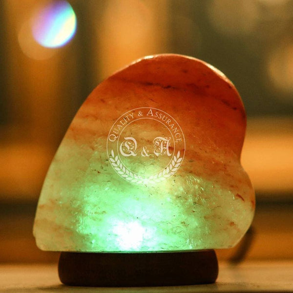 Himalayan Salt Mini Heart USB Lamp
