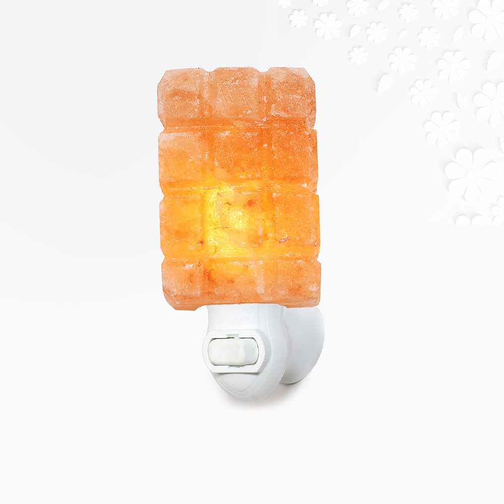 Himalayan Salt Checker Cube Night Light