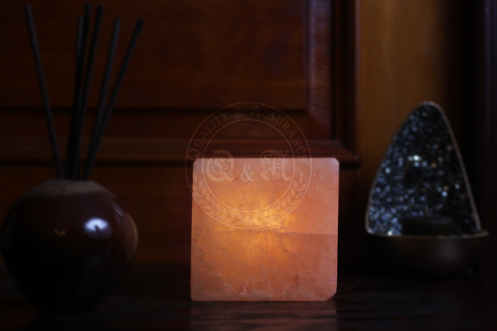 Himalayan Salt Cube T-light Candle Holder