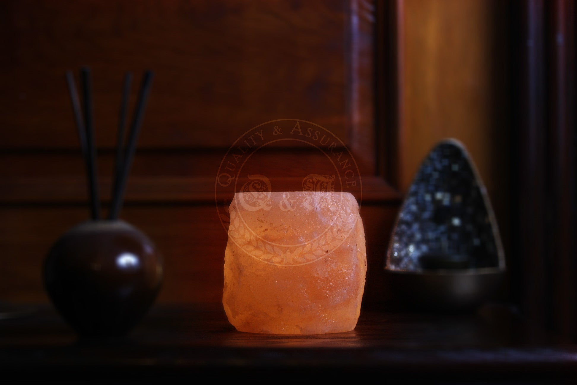 Himalayan Salt Fortress Arch Tealight Candle Holder
