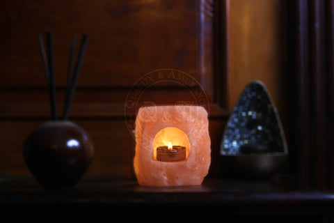 Q&A Himalayan Salt Fortress Arch Tealight Candle Holder - Q & A Himalayan Salt - 1