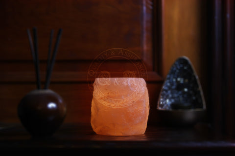 Q&A Himalayan Salt Fortress Arch Tealight Candle Holder - Q & A Himalayan Salt - 2