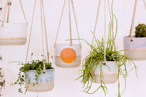 Small Hanging Planter | Shino White | No Drainage