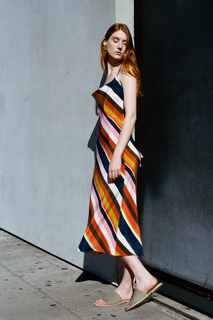 Sifa Stripe Bias Dress