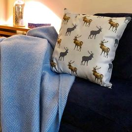Scottish stag cushions by Roger Lee