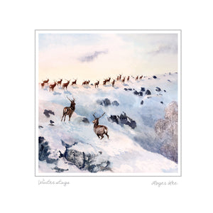 Stags in Winter - Rogerleeart