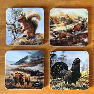 Scottish animal icon coasters - Rogerleeart