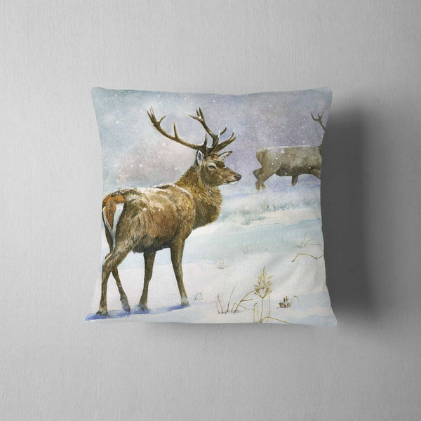 Red deer stag Cushion - Rogerleeart