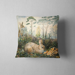 Rabbits Cushion - Rogerleeart