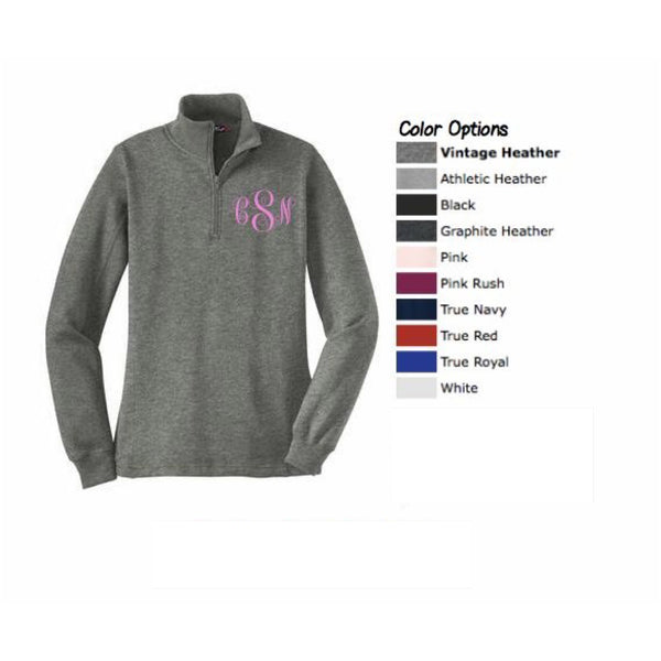 Monogrammed Sweatshirt - Sharp Plant Designs