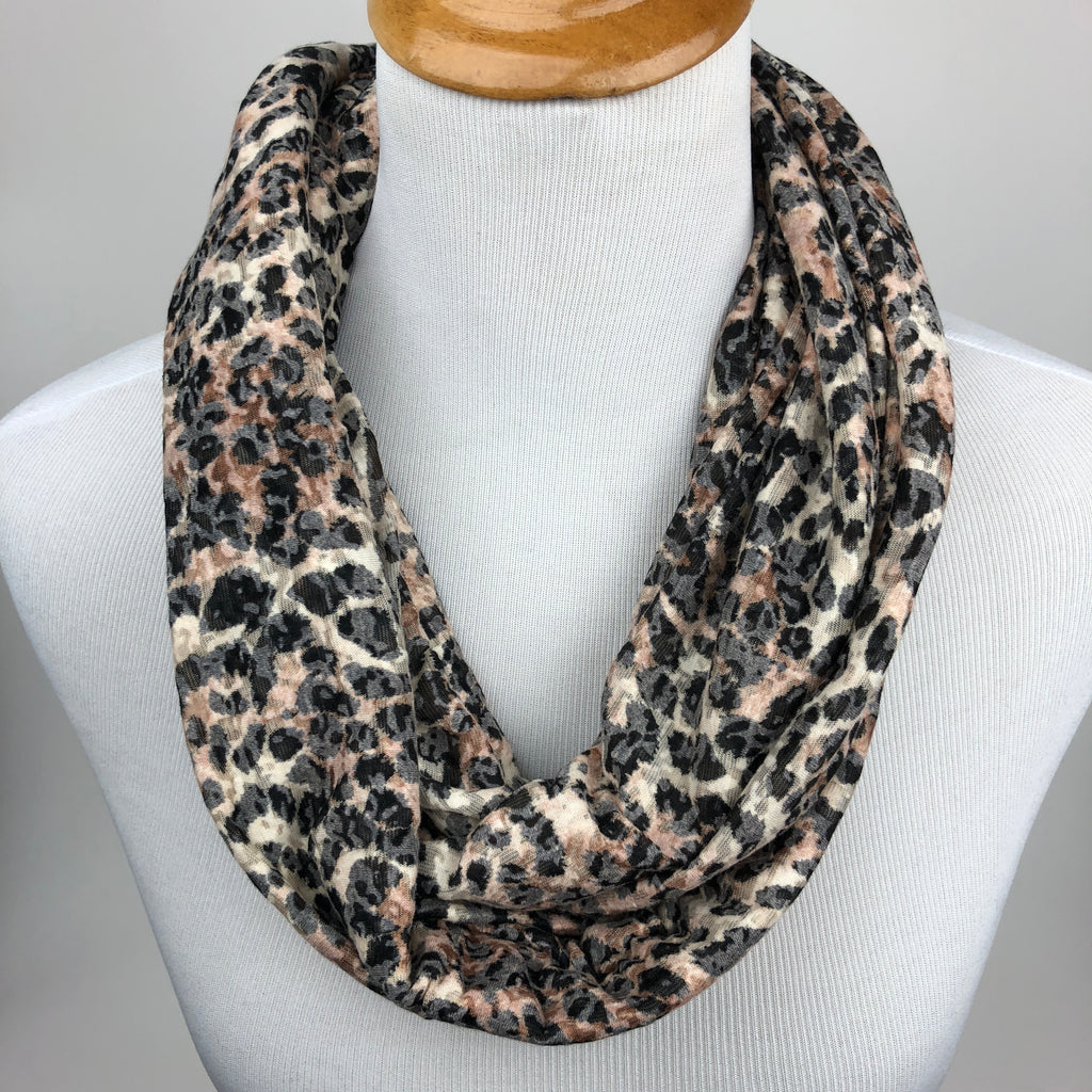 Leopard Print Infinity Scarf Sharp Plant Designs Scarf Woodbridge