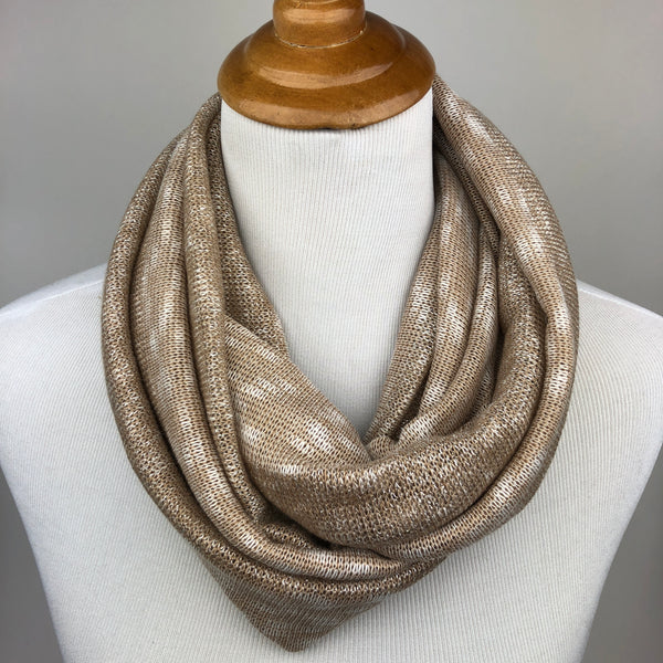 Gold Knit Infinity Scarf Sharp Plant Designs Scarf Woodbridge