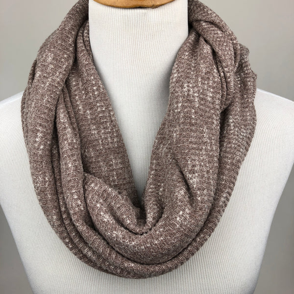 Taupe Knit Infinity Scarf Sharp Plant Designs Scarf Woodbridge