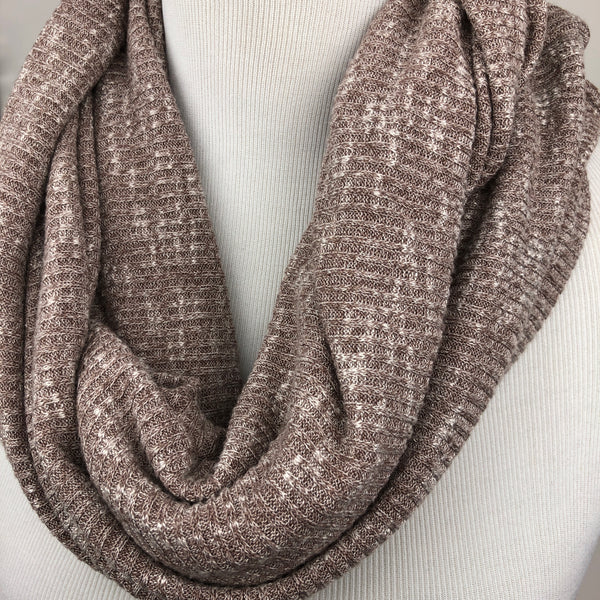 Taupe Knit Infinity Scarf