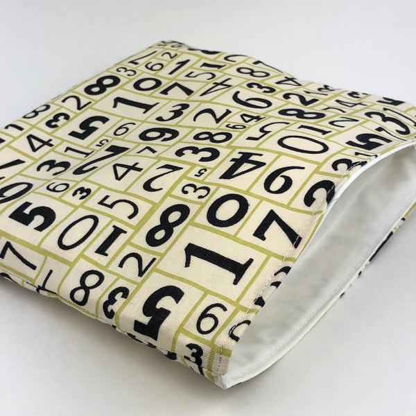 Numbers Reusable Snack Bag
