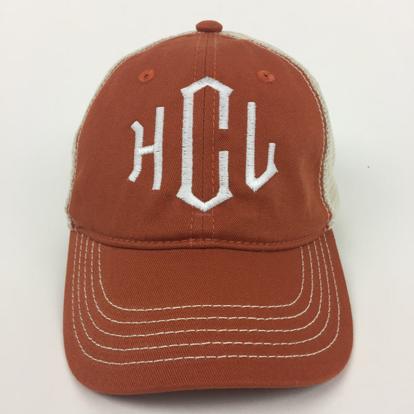 Monogrammed Hat Sharp Plant Designs Hat Woodbridge