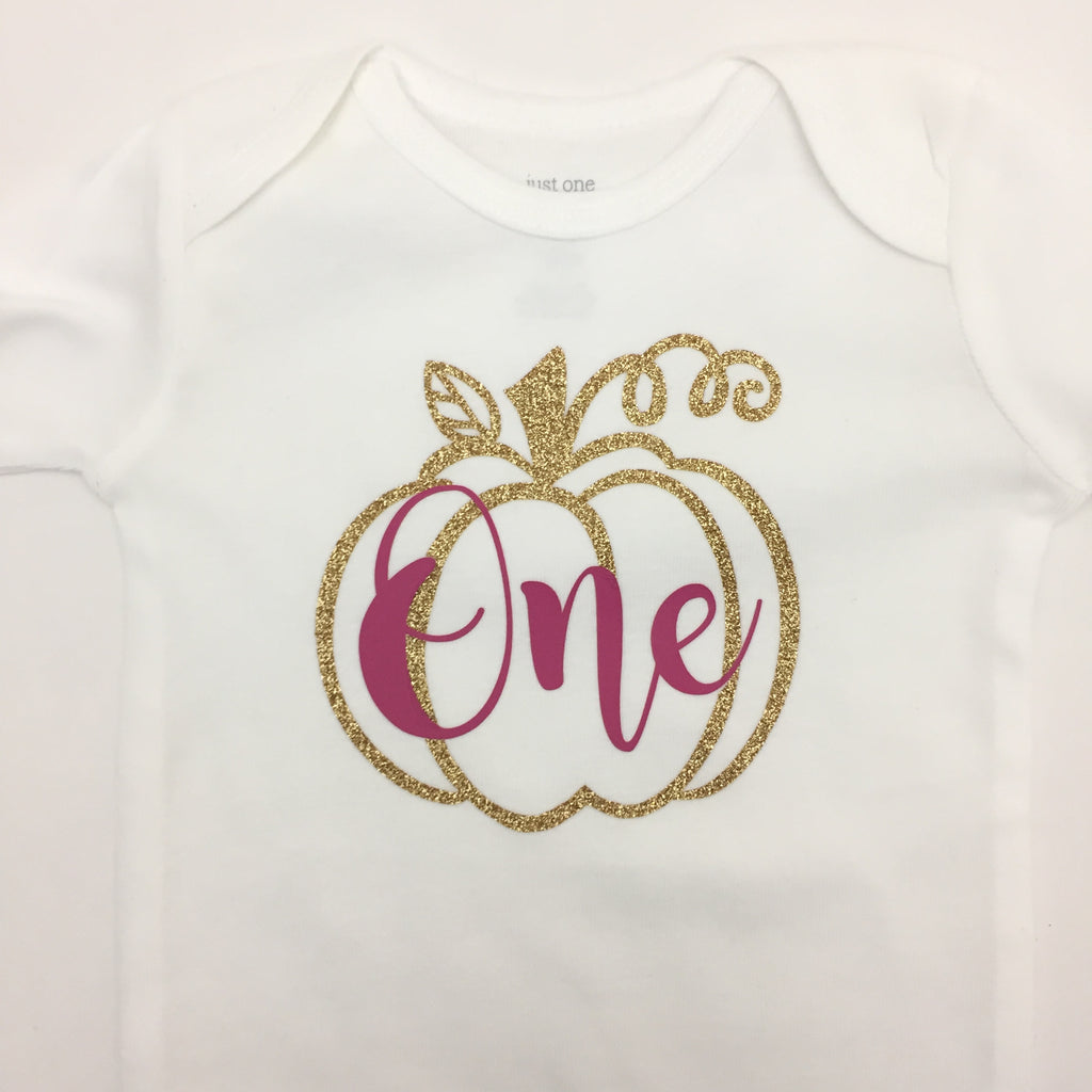Pumpkin First Birthday Shirt Sharp Plant Designs Shirts Woodbridge