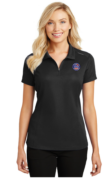 L580 Port Authority® Ladies Pinpoint Mesh Zip Polo