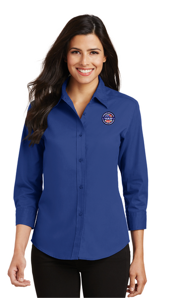 L612 Port Authority® Ladies 3/4-Sleeve Easy Care Shirt