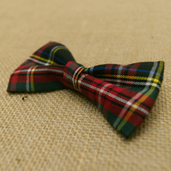 Black Tartan Plaid Bow Tie Sharp Plant Designs Kids Woodbridge