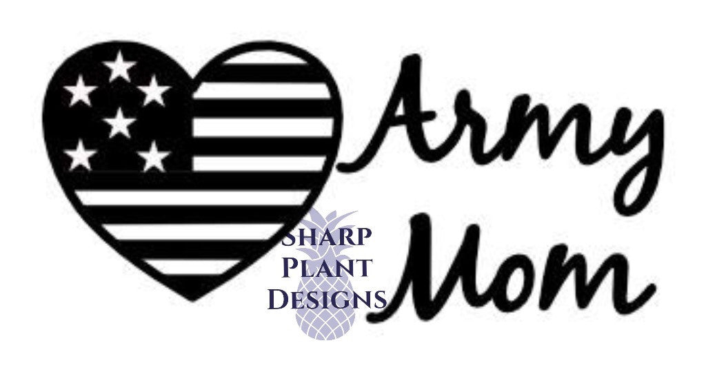 Army Wife Decal Sharp Plant Designs Decals Woodbridge