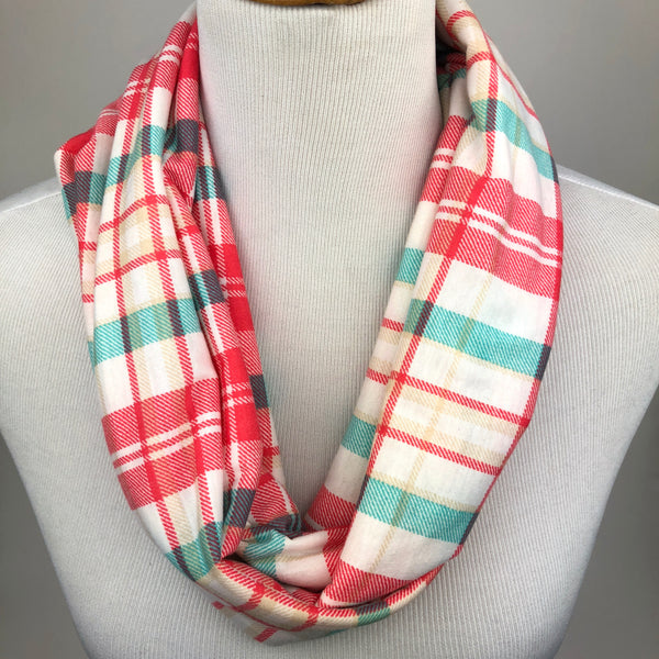 Bright Plaid Infinity Scarf Sharp Plant Designs Scarf Woodbridge
