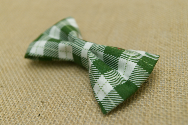 Green Gingham Bow Tie Sharp Plant Designs Kids Woodbridge