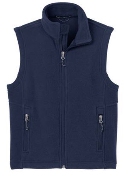navy blue kids fleece vest