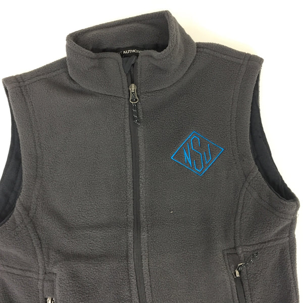 Youth Monogrammed Fleece Vest Sharp Plant Designs Kids Woodbridge