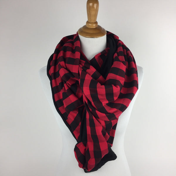 Buffalo Plaid Snap Infinity Scarf Sharp Plant Designs Scarf Woodbridge