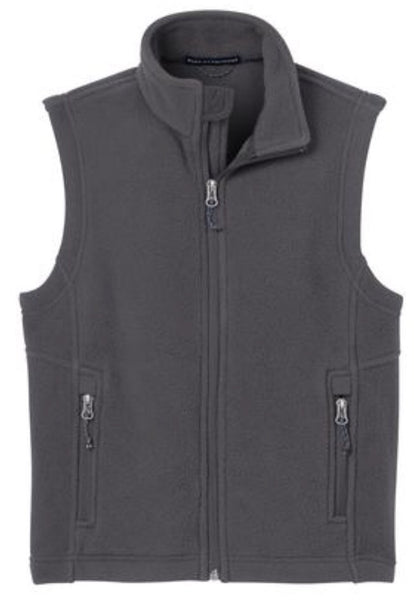 grey kids fleece vest