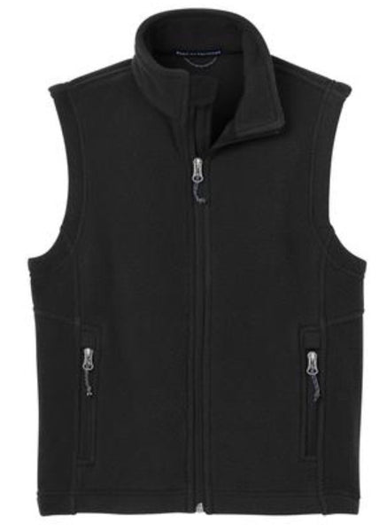 black kids fleece vest
