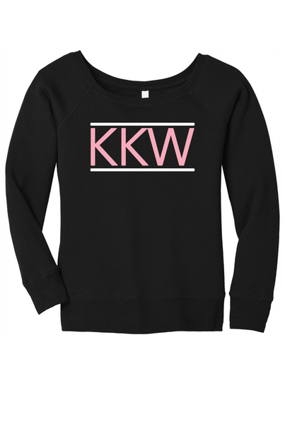 Pink KKW Off Shoulder Sweathshirt