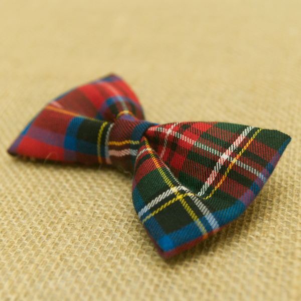 Red Tartan Plaid Bow Tie Sharp Plant Designs Kids Woodbridge