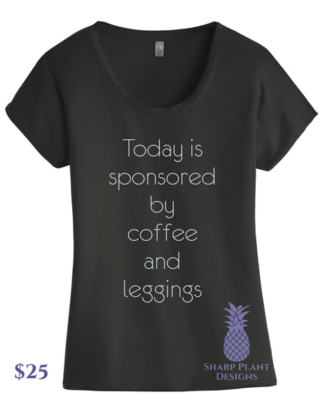 Coffee and Leggings Graphic Tee Sharp Plant Designs Graphic Tee Woodbridge