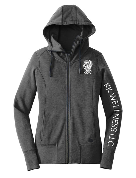 Zippered Tri-Blend Ladies Hoodie