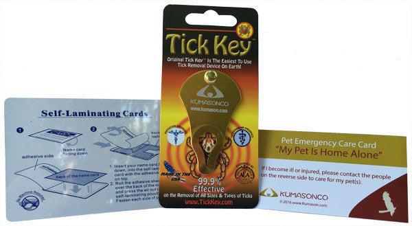 Pet Emergency Card with Laminating Pouch and Tick Remover - Bird