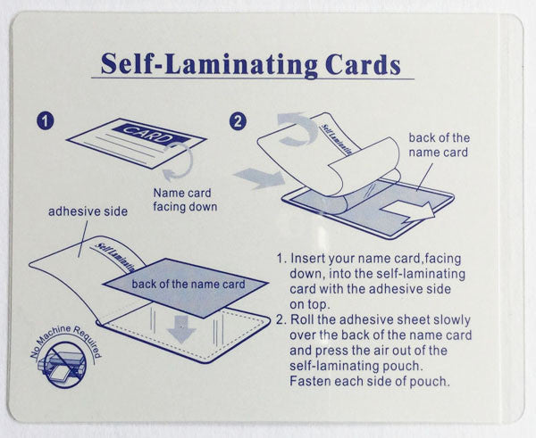 Pet Emergency Card & Laminating Pouch Paws (Qty 2)