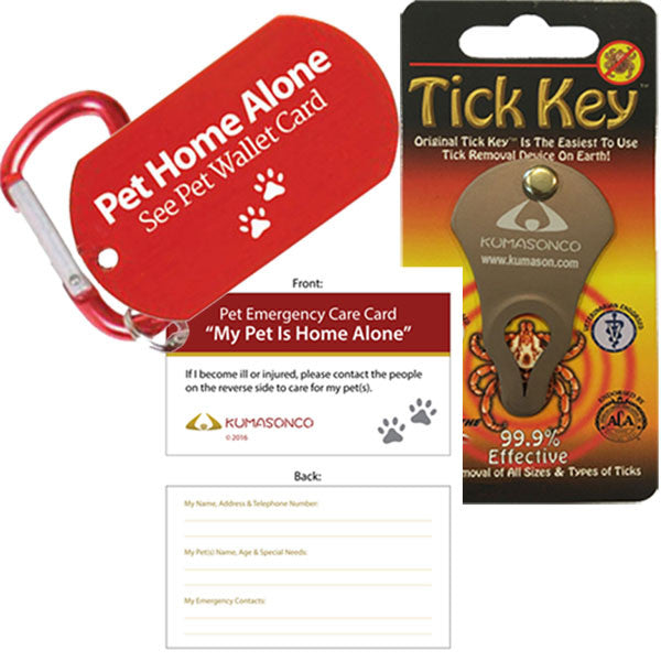 Emergency ID Tag and Tick Remover