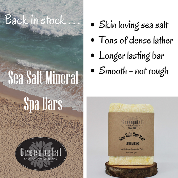 SEA SALT MINERAL SPA BAR - Sudsy Pumice Stone - Formulated for Feet