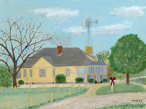 jimmy carter painting of his childhood home