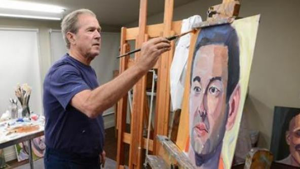 george w bush painting fallen soldiers presidents day