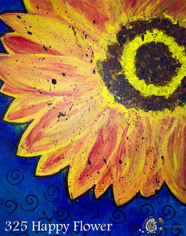 sunflower spring painting