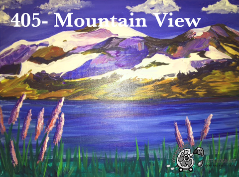 mountain view painting