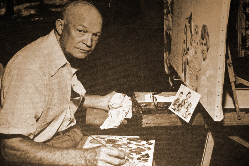 dwight d eisenhower painting a portrait presidents day