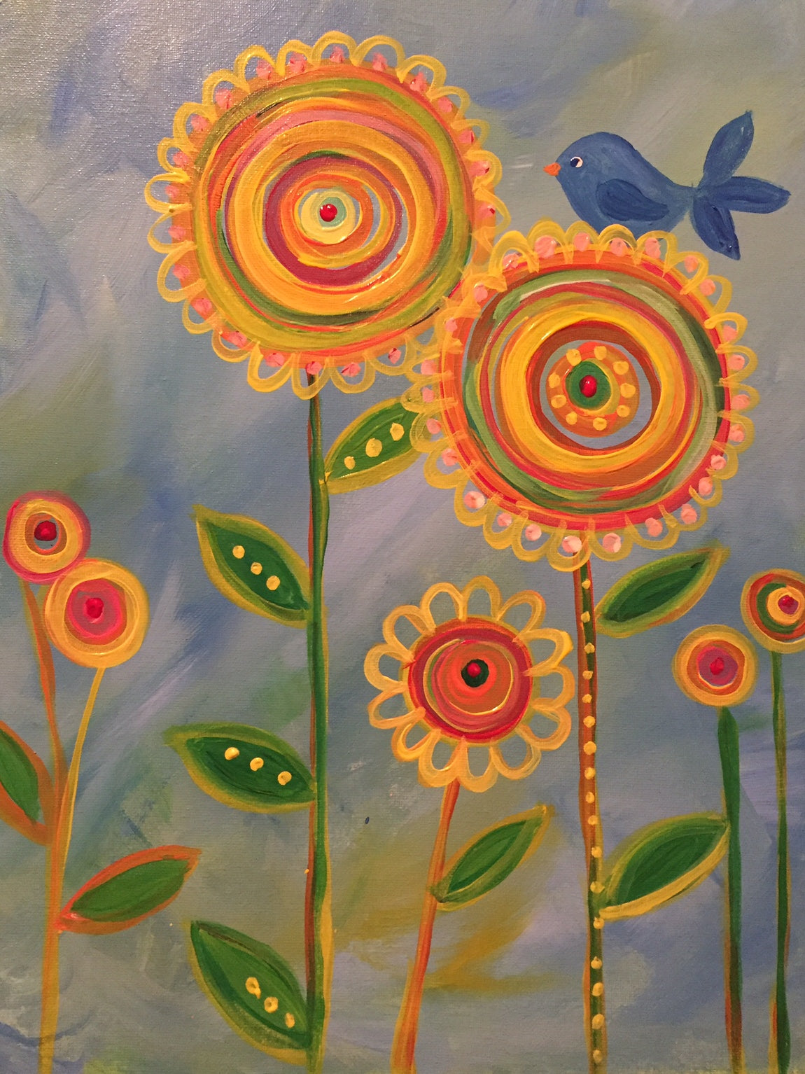 Ellies Yellow Flowers 417 Lets Gogh Art Central Florida