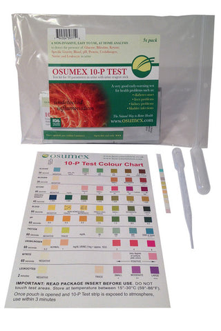 10-P (Parameters) Urine Analysis (5x pack)