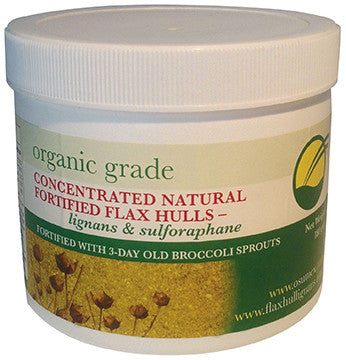 Fortified Natural Organic Flax Hulls (with 3-day old broccoli sprouts)