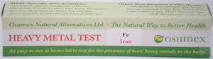 Heavy Metal Specific Test Kit - Iron Reg (FeR)